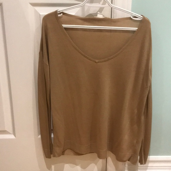 2 for $10 - Beige thin long sleeve sweater